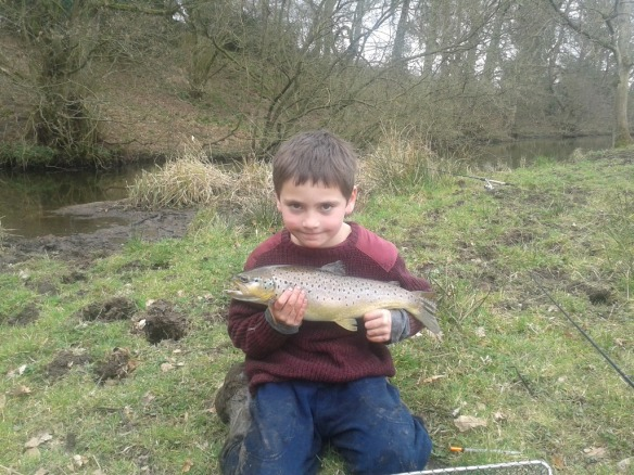 April's winner Frank Cockill-Guy Peover Eye 4lb Brown Trout