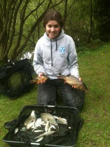 Sarah catch of mainly skimmers and roach with a small carp and a crucion carp for 7lb 5oz