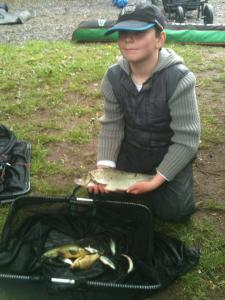 Callam beat his neighbour by 8oz with his net of 2lb 8oz