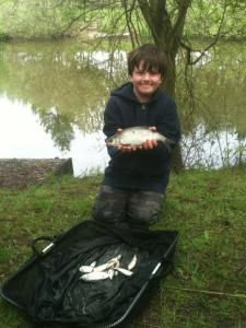Jack is coming on well fishing most of this match on his own catching 1lb 10oz