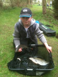 Callum McCormack sponsored by Frenzee caught some of the biggest fish including a nice Bream