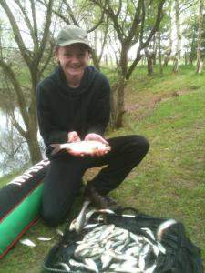 Kyle Hickman was responsible for the most fish caught 6lb 6oz