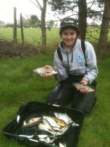 Sarah Taylor's match winning catch of 7lb 14oz