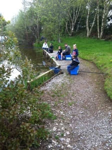 Drop in sessions are in full swing. The drop in sessions are were people can borrow some equipment and go fishing.