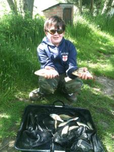 Jack Ross with 2lb 1oz of roach and perch
