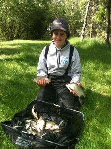 Sarah Taylor's 8lb was enough for 2nd place and series title.