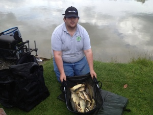 Chris Finneran's 14lb 9oz of pellet waggler fish