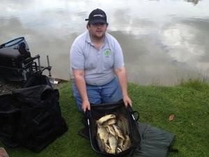 Chris Finneran's 14lb 9oz of pellet waggler fish