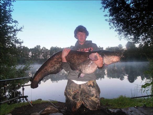 June 2013 Ian Futcher Lymm AC Club Record Wels Catfish 64lb