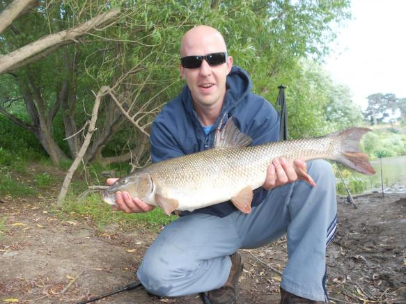 Robert Kenyon 8lb 2oz Barbel River Severn Atcham