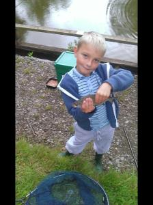 Academy newcomers Freddie Didd getting to grips with fishing and off to a great start