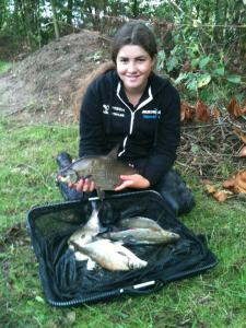 Sarah Taylor with her 8lb 3oz of fish and got to keep her topkit.