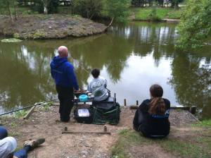 After the match Callum was practising waggler fishing and managed to tempt tench and large skimmers.
