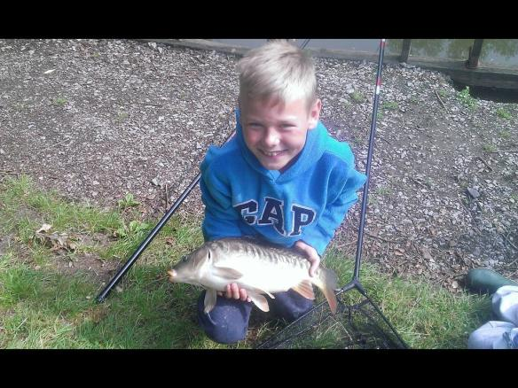 Freddie's carp taken on sweetcorn