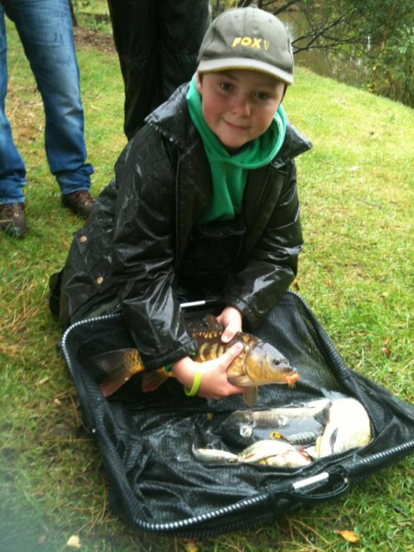 Newcomer David Smith with two carp and silvers for 8lb 13oz taking his first win with Lymm AC Juniors