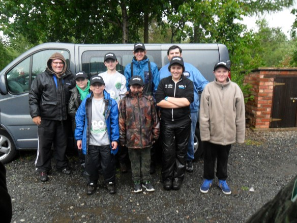 Big thanks to Ricky Teale of Matrix Tackle. (Back Right to Left Ricky Teale, David Smith, Kyle Hickman, Elliott Mavers, Chris Finneran. Front Left: Callum McCormack, Jack Ross, Sarah Taylor and Alex Warham)
