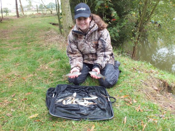 Sarah Taylor with her final catch of small roach. 2lb 13oz