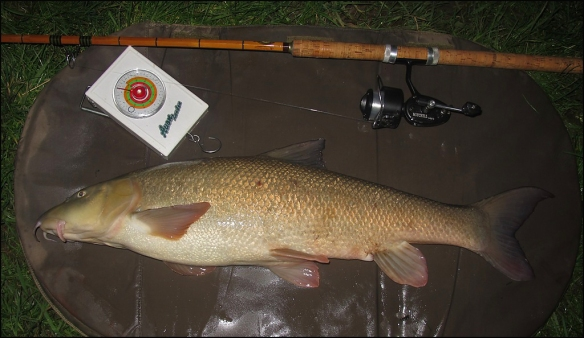 Graeme's new PB barbel and his old tackle!