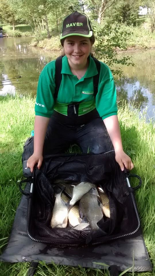 Sarah Taylor winning catch of 16lb