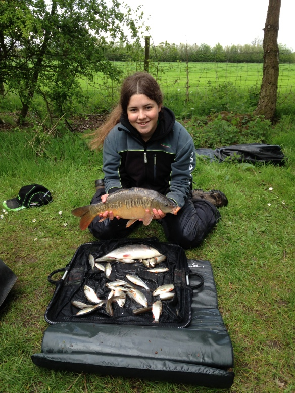 Match winner Sarah Taylor with 9lb 3oz of carp and roach.