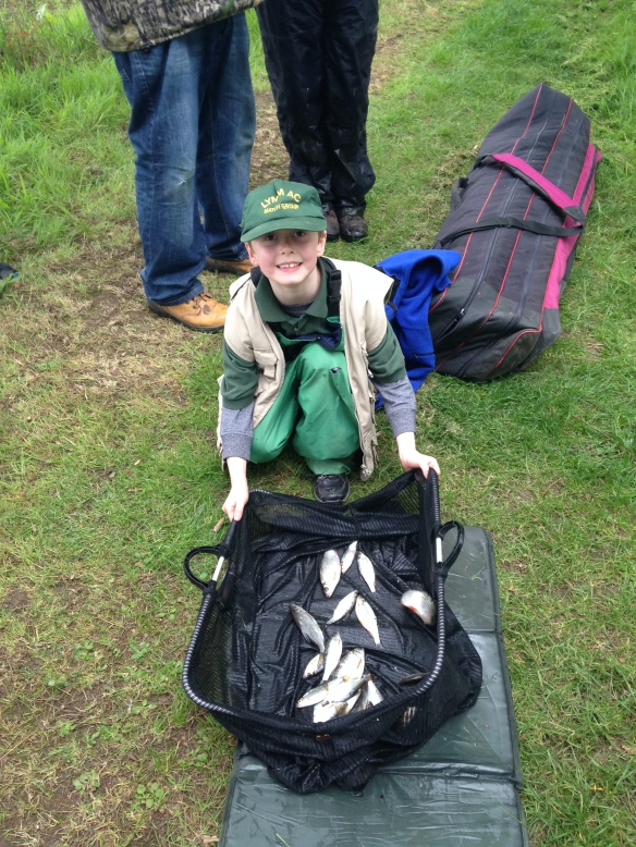 James Dineley first match managed to catch 2lb 6oz