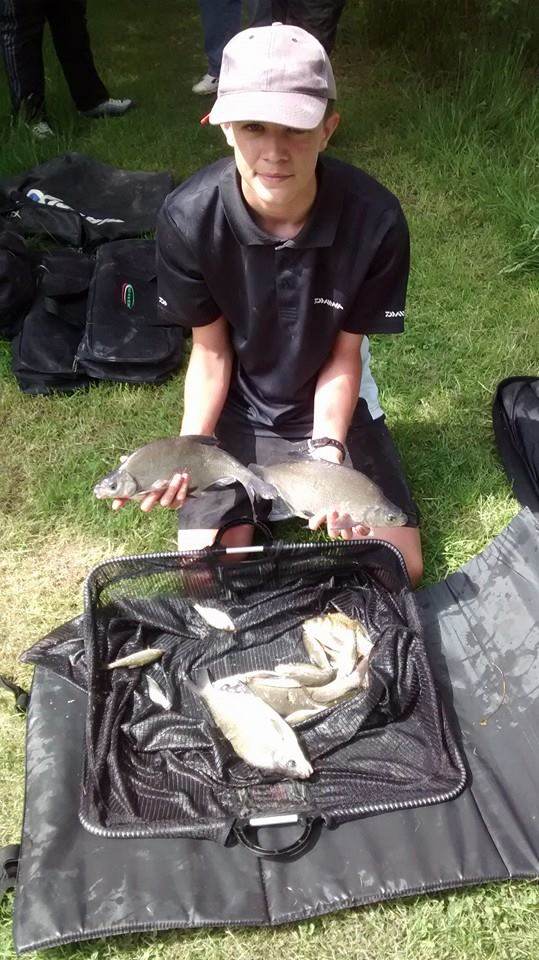 Yestyn Sephton on his first Lymm AC Juniors match catching 6lb 3oz for a match win