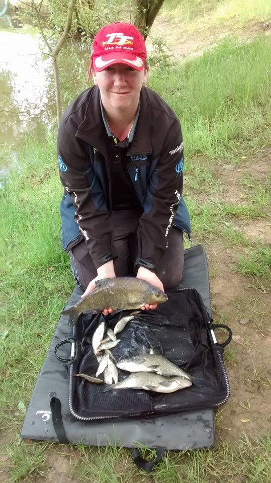 Josh Lyons with his catch of 5lb 12oz of skimmers. Good enough for second on the day and 6th overall.