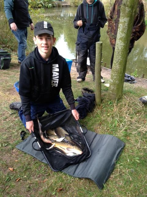 Maver's Kristian Jones  with winning weight of 11lb 4oz