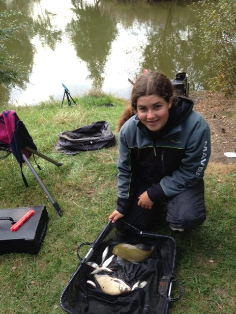 Sarah Taylor with a lovely tench and a few bits for 3lb 9oz.