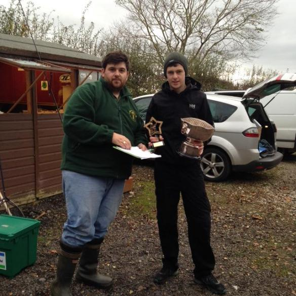 Jack Stansfield collecting our Angler of Year trophy 2014.